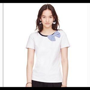 Kate Spade Broome Street Seersucker Bow T-Shirt